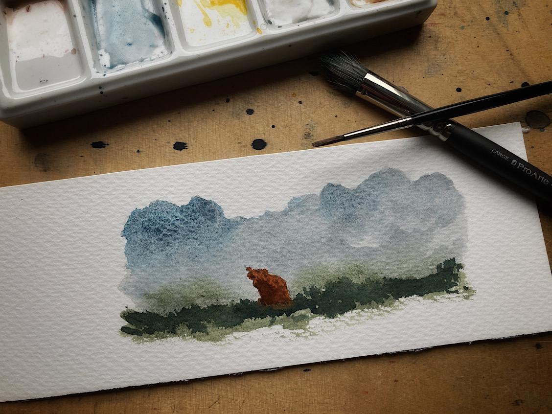 Papierabfall und Farbtest
