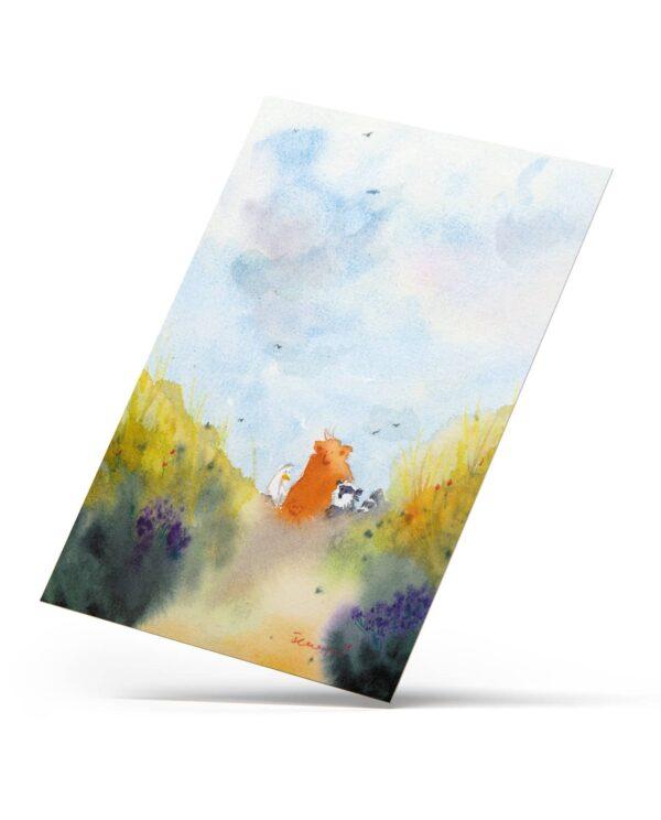 """Postkarte """"Sommerspaziergang"""", A6, hochglanz"""